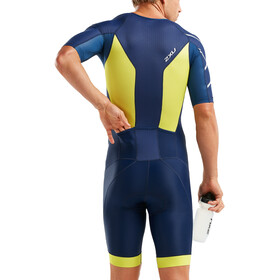 2XU Perform Full-Zip Sleeved Trisuit Men navy/limeade